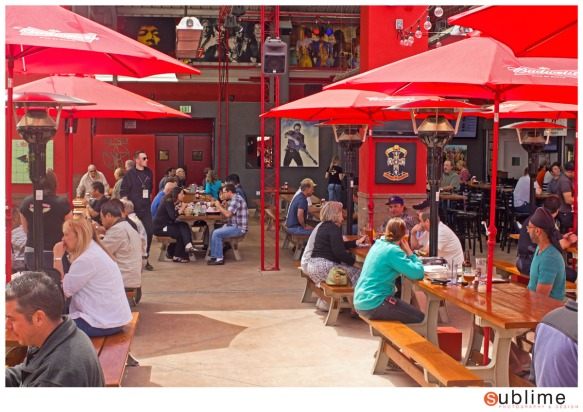 The patio at Rock & Brews in El Segundo