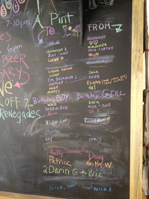 The Chalkboard at Republic Brewing
