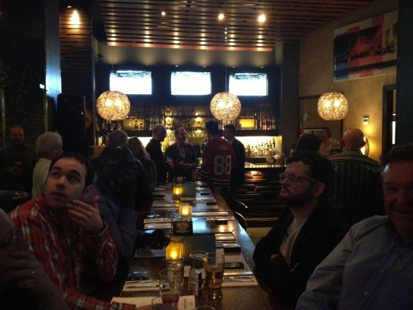 The Crowd Assembles in anticipation of great food and beer pairing at Cabana Grille.