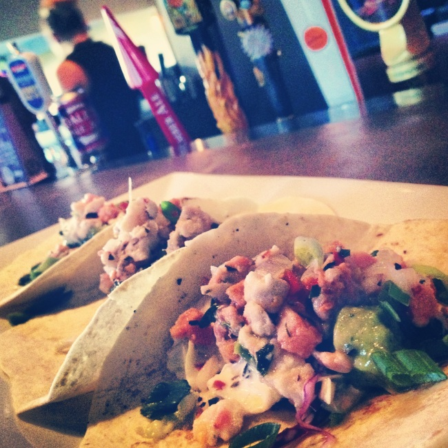 Kelowna's Mission Tap House serves Cevice Fish Tacos